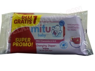 MITU BABY CLEANSING WIPES PNK 50S